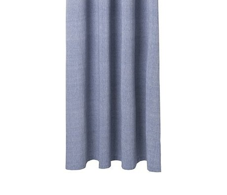 Ferm Living Shower curtain Chambray blue cotton 160x205cm