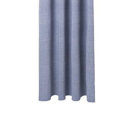 Ferm Living Tenda da doccia in cotone blu Chambray 160x205cm