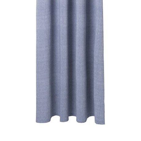 Ferm Living Duschvorhang Chambray blau Baumwolle 160x205cm