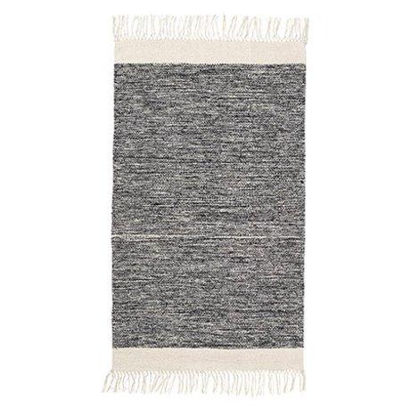 Ferm Living Carpet melange black cotton 60x100cm