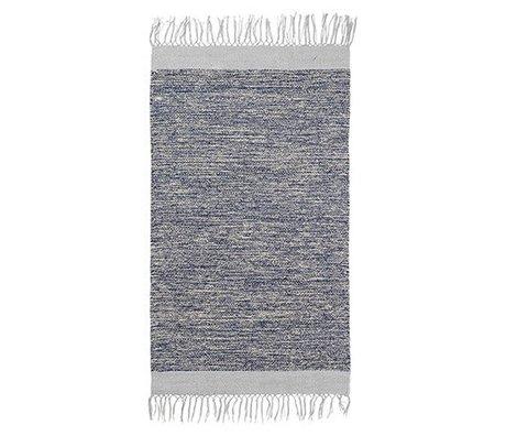 Ferm Living Tæppe melange blå bomuld 60x100cm