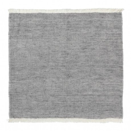 Ferm Living Juego de servilletas de algodón azul de 2 40x40cm