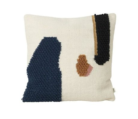 Ferm Living Throw Pillow Loop Mount Multicolor Wool Canvas 50x50cm