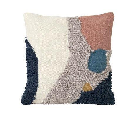 Ferm Living Throw Pillow Loop Landscape Lana multicolor Lona 50x50cm