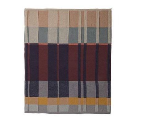 Ferm Living Couverture maille medley coton multicolore 160x120cm