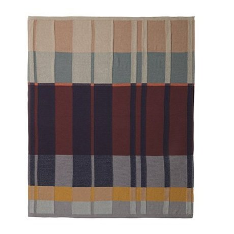Ferm Living Blanket medley knit cotton multicolored 160x120cm