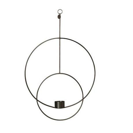 Ferm Living Tealight holder Deco round black metal 30x45x4.5