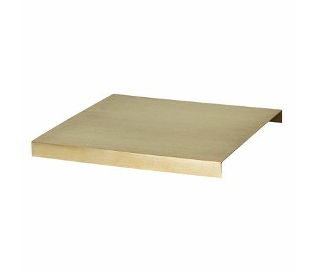 Ferm Living Plateau pour Plant Box métal doré 26x26x2.5cm