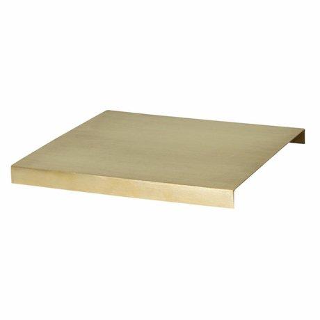 Ferm Living Skuffe til planteboks guldmetal 26x26x2.5cm