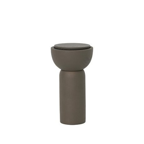 Ferm Living Pepper / salt mill dark green wood Ø6.5x12cm