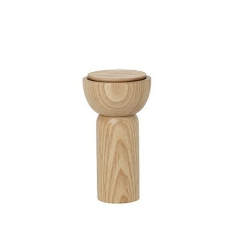 Ferm Living Pepper / salt mill natural color wood Ø6.5x12cm