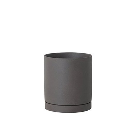 Ferm Living Flower pot Sekki gray ceramic large Ø15,7x17,7cm