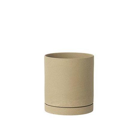 Ferm Living Blomsterkrukke Sekki beige keramik stor Ø15,7x17,7cm