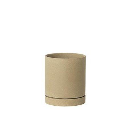 Ferm Living Flower pot Sekki beige ceramic large Ø15,7x13.5cm