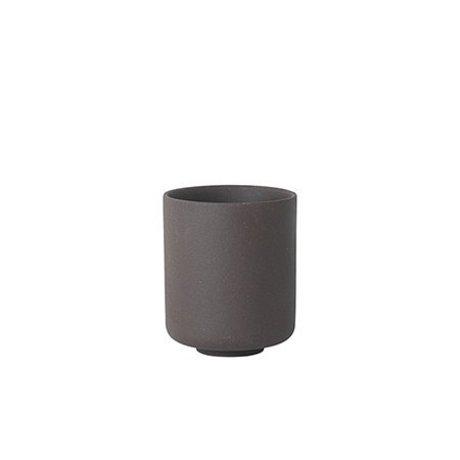 Ferm Living Cup Sekki gray ceramic large Ø7.7x9.2cm