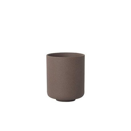 Ferm Living Copa Sekki rojo marrón cerámica grande Ø7.7x9.2cm