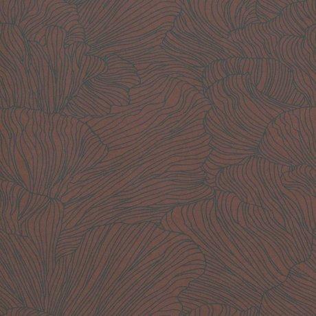 Ferm Living Papier peint Coral bordeaux rouge bleu foncé 53x1000cm