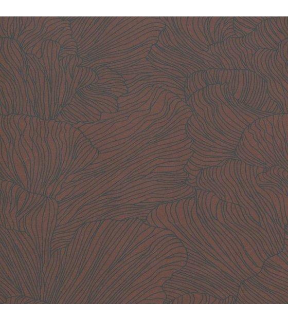 Carta Da Parati Coral Bordeaux Rosso Scuro Blu 53x1000cm