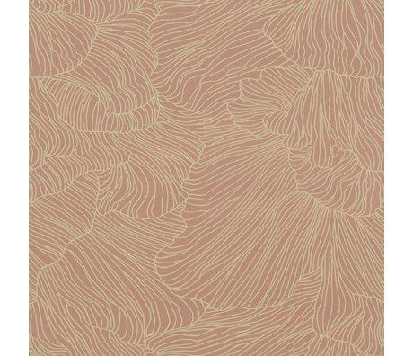 Ferm Living Fondo de pantalla Coral rosa beige 53x1000cm
