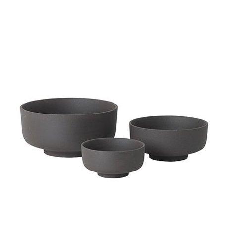 Ferm Living Schalen Set aus 3 Sekki grau Keramik