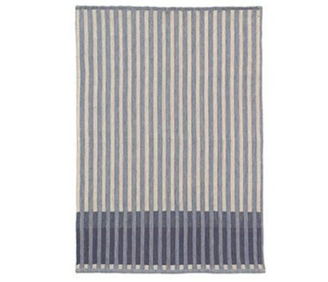 Ferm Living Te håndklæde korn Jacquard blå bomuld 70x50cm