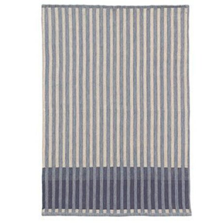 Ferm Living Strofinaccio Grain Jacquard blu cotone 70x50cm