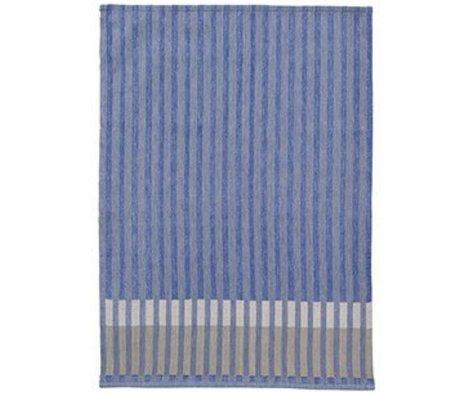Ferm Living Strofinaccio in grani di cotone jacquard grana blu 50x70cm