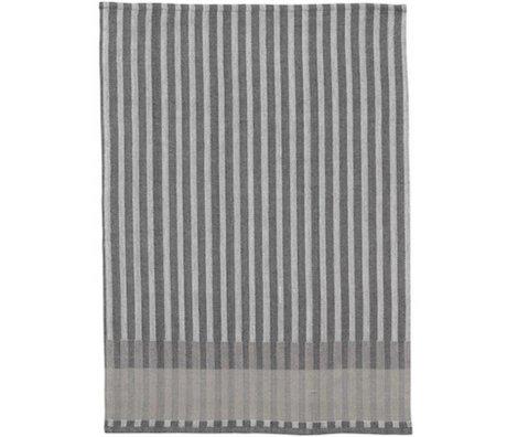 Ferm Living Strofinaccio Grano Jacquard grigio cotone 70x50cm