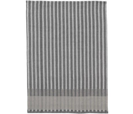 Ferm Living Tea towel Grain Jacquard cotton gray 70x50cm