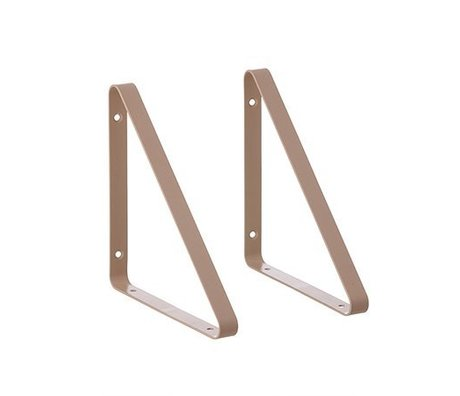 Ferm Living Shelf support pink metal 24.5x24.5x2.5cm