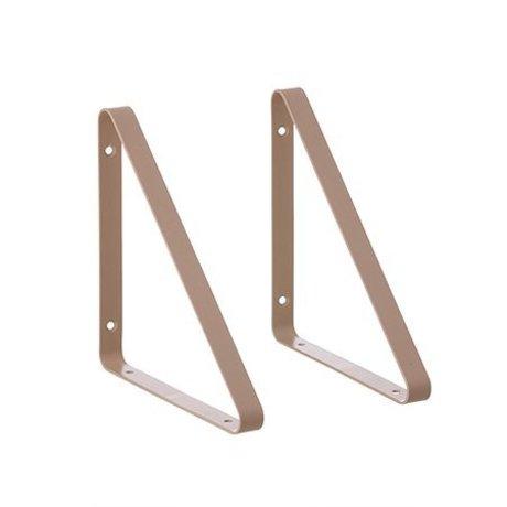 Ferm Living Tablette en métal rose 24.5x24.5x2.5cm