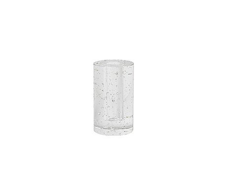 Ferm Living Decoration object Cylinder Bubble glass 6.6x11.3cm