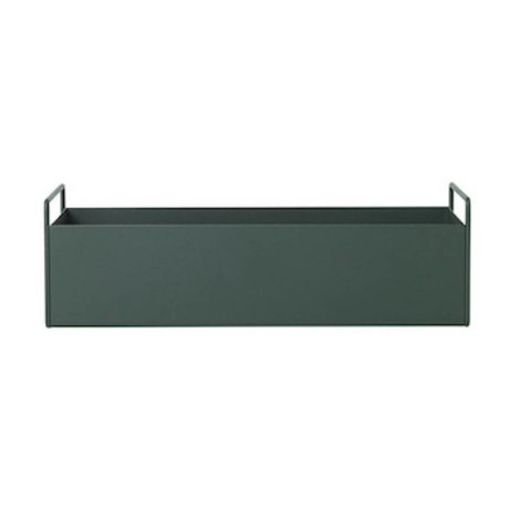 Ferm Living Box for plant dark green metal S 45x14,5x17cm