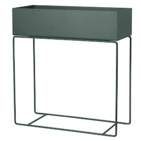 Ferm Living Box for plant dark green metal 60x25x65cm