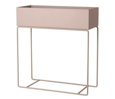Ferm Living Box for plant pink metal 60x25x65cm