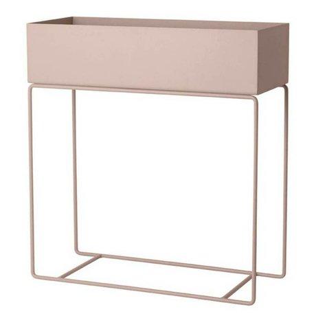 Ferm Living Box für Pflanze rosa Metall 60x25x65cm