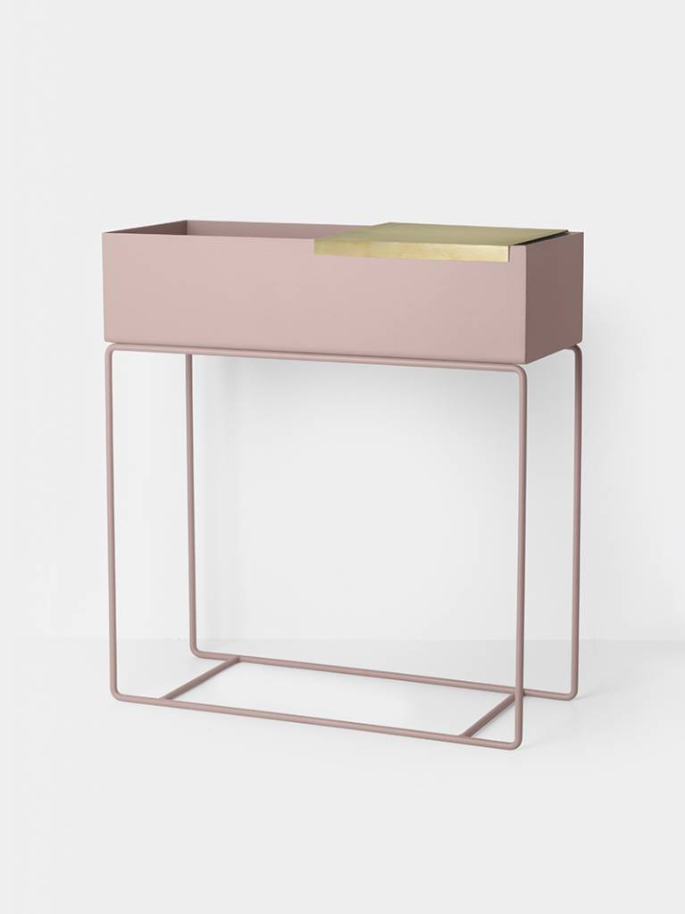 box pflanze rosa metall 60x25x65cm. Black Bedroom Furniture Sets. Home Design Ideas