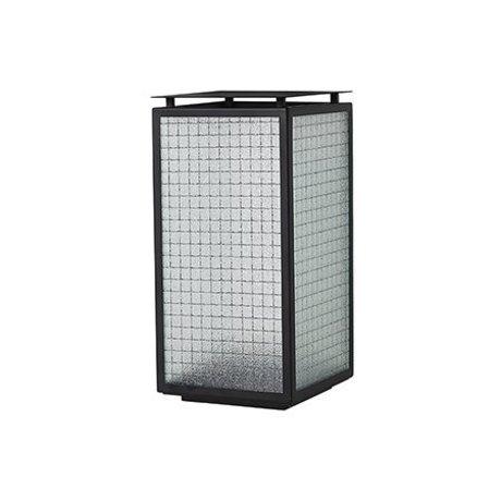 Ferm Living Lanterna Haze in acciaio nero 16.5x16.5x33cm di vetro