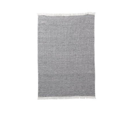 Ferm Living Toalla de cocina mezcla gris lino de algodón 70x50cm