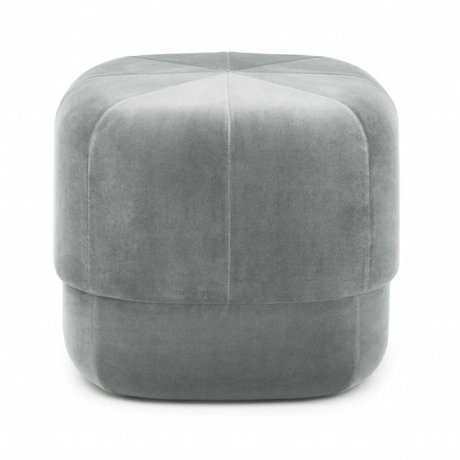 Normann Copenhagen Puff Circus gray velor small 40x46x46cm
