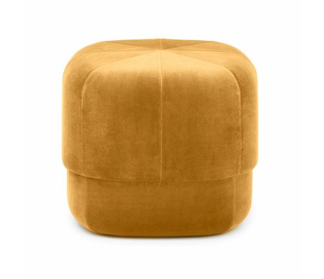 Normann Copenhagen Puff Circus yellow velours small 40x46x46cm