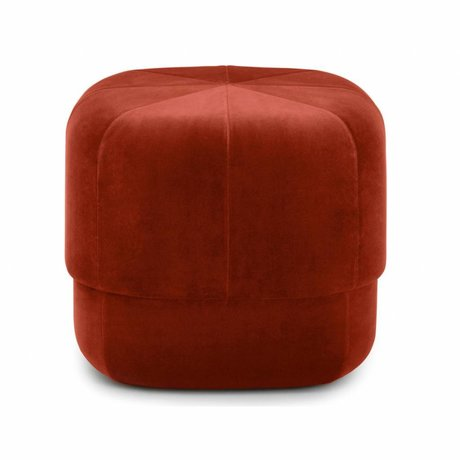 Normann Copenhagen Puff Circus ruggine velour piccolo 40x46x46cm