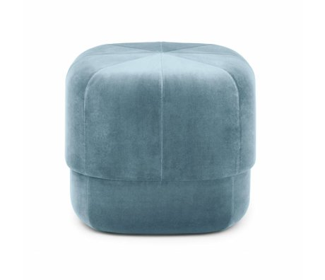 Normann Copenhagen Puff Circus light blue velor small 40x46x46cm