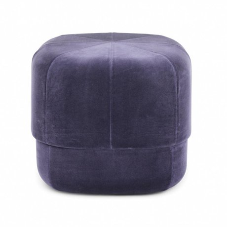 Normann Copenhagen Puff Circus violet suede small 40x46x46cm