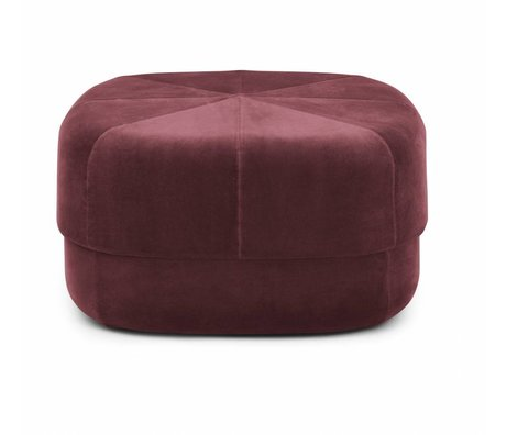 Normann Copenhagen Puff Circus dark red velor large 35x65x65cm