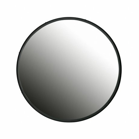 LEF collections Lauren round mirror l metal big