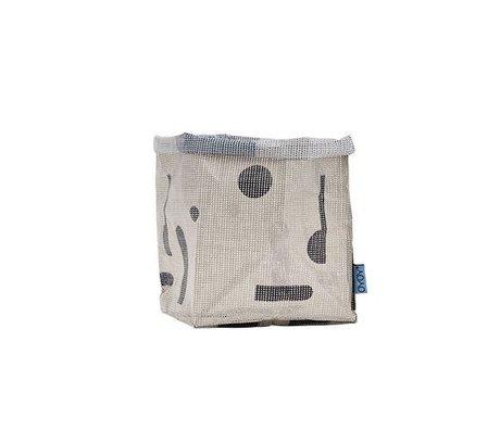 OYOY Kraftzak Hokus Pocus gray polyester 20x20x28cm