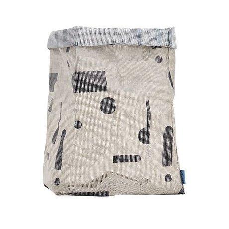OYOY Kraftzak hokus Pocus grau Polyester 30x30x54 cm
