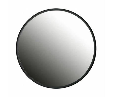 LEF collections Miroir Lauren noir métal 80x80x4cm