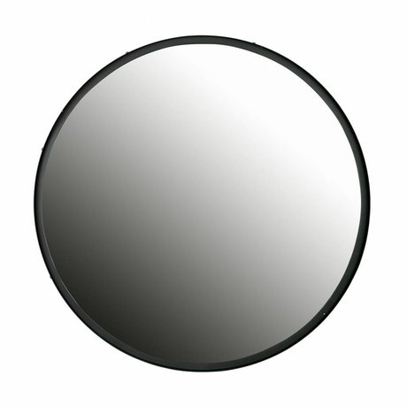 LEF collections Lauren round mirror xl metal big